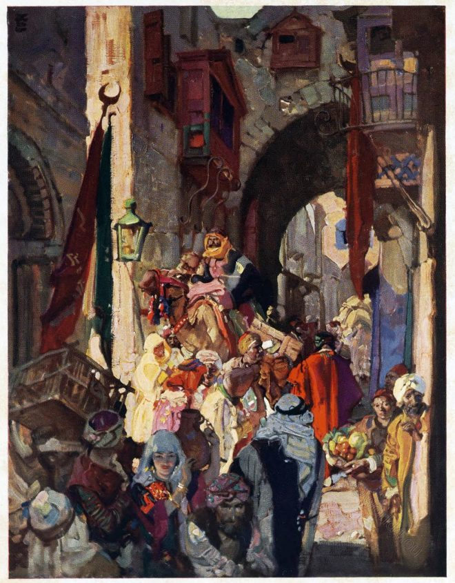 Dean Cornwell, Jerusalem, Street David, Holy Land, Travel, Israel,