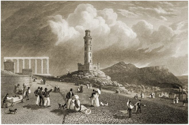 Edinburgh, Calton Hill, Nelson's Monument, National Monument, Robert Batty,