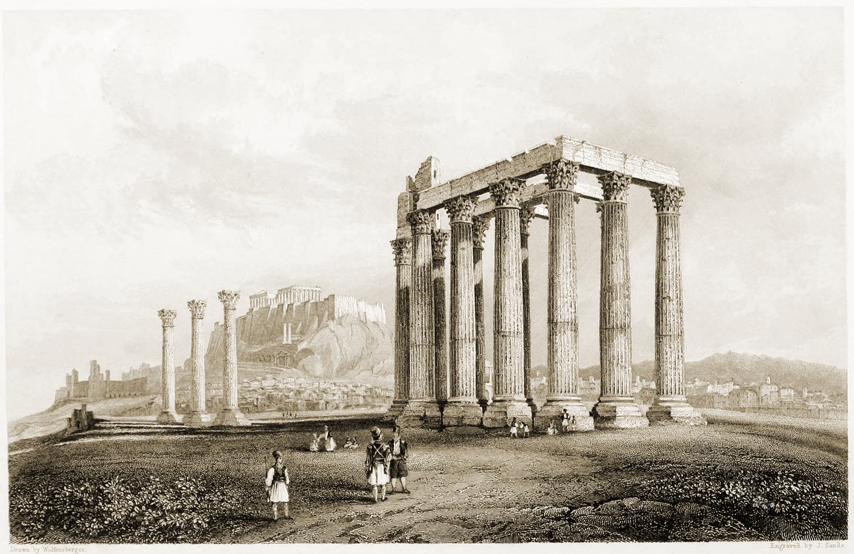 Olympieion, Columns, Olympian Zeus, Temple, Architecture, Antiquity, Greece,