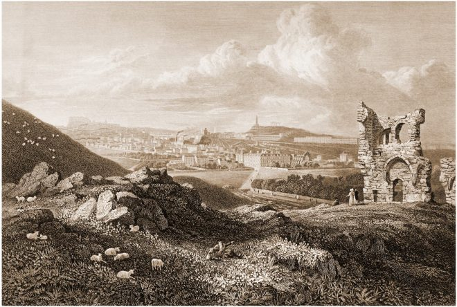 Edinburgh, View, St. Anthony's Chapel, Ruin, Robert Batty,