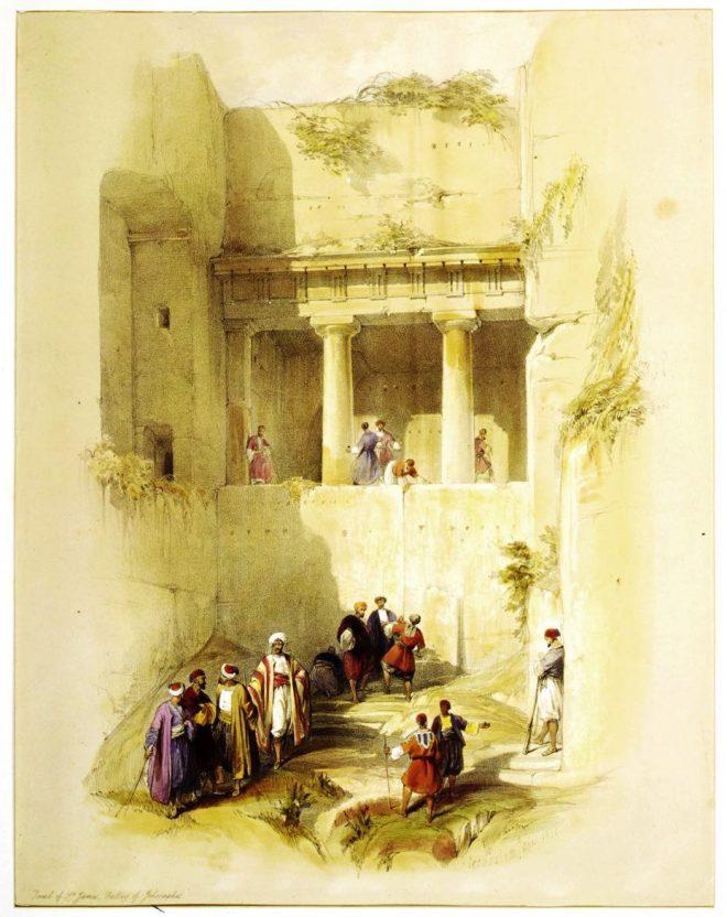 Tomb, St. James, Valley, Jehoshaphat, Israel, Travel, Holy, Land, David Roberts