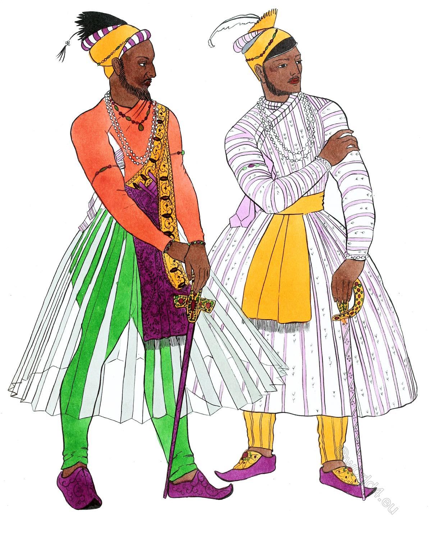 India, Mogul, emperors, aristocracy, costume, ancient,
