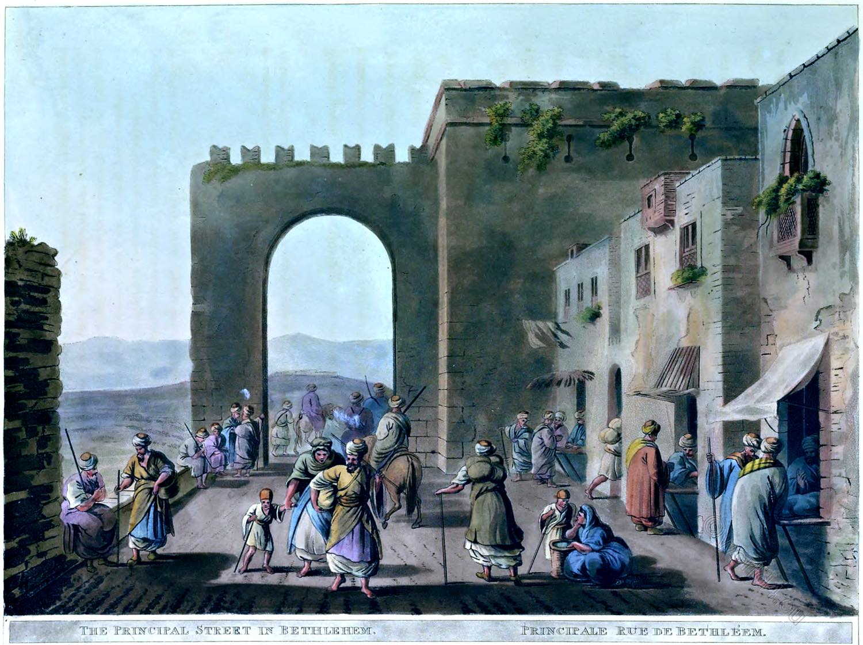 Bethlehem, Luigi Mayer, Palestine, Holy Land, landscape, Architecture, view