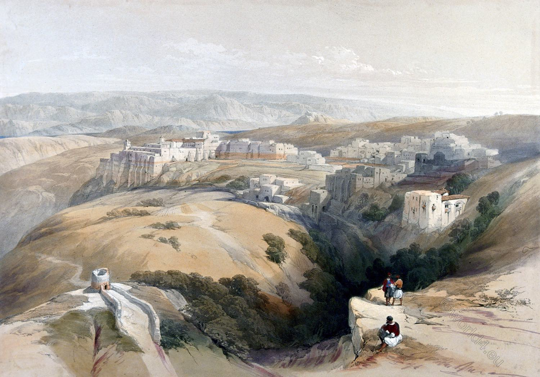 Bethlehem, David Roberts, Holy Land, landscape, Architecture, view