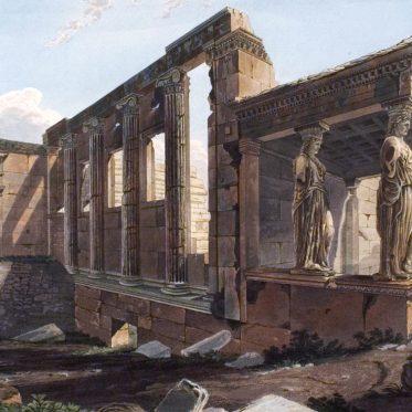 Erechtheion, Ionic-style, temple, Athen, Acropolis, Ancient, Architecture,