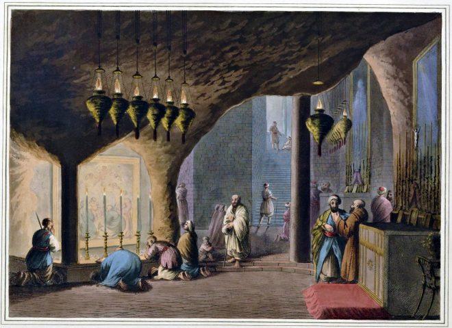 Bethlehem, Grotto, Nativity, Chapel, Innocents, Luigi Mayer