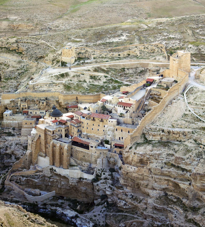 Convent, Holy Laura, Palestine, Mar Saba, Monastery, Aerial