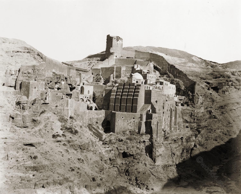 Mar Saba, Convent, Monastery, Palestine, Greek, Orthodox, Kidron Valley, Israel,