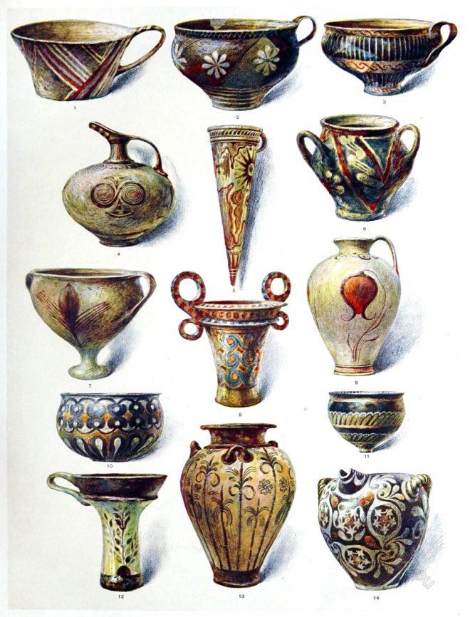 Crete, Cnossus, Greece, Minoan, Antique, Earthenware,