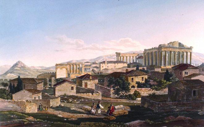 Parthenon, Erechtheion, Propyleae, Greece, Athen, Acropolis, Ancient, Ruins,