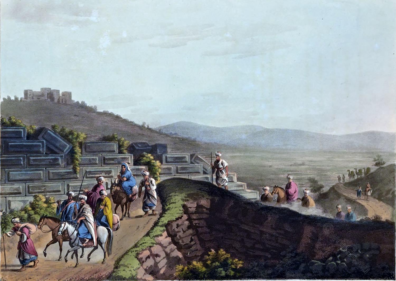 Ramah, Ruins, Ramata Zophim, Luigi Mayer, Palestine, Holy Land,