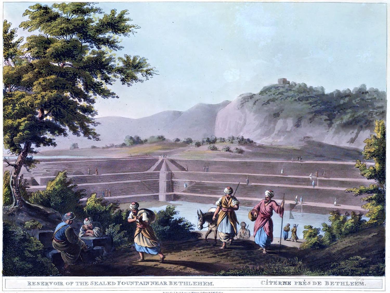 Reservoir, Sealed, Fountain, Bethlehem, Luigi Mayer, Palestine, Holy Land,