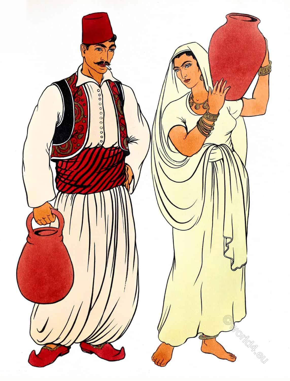 Syria, costumes, clothing, Mashreq, arabs, fez, baggy, trousers