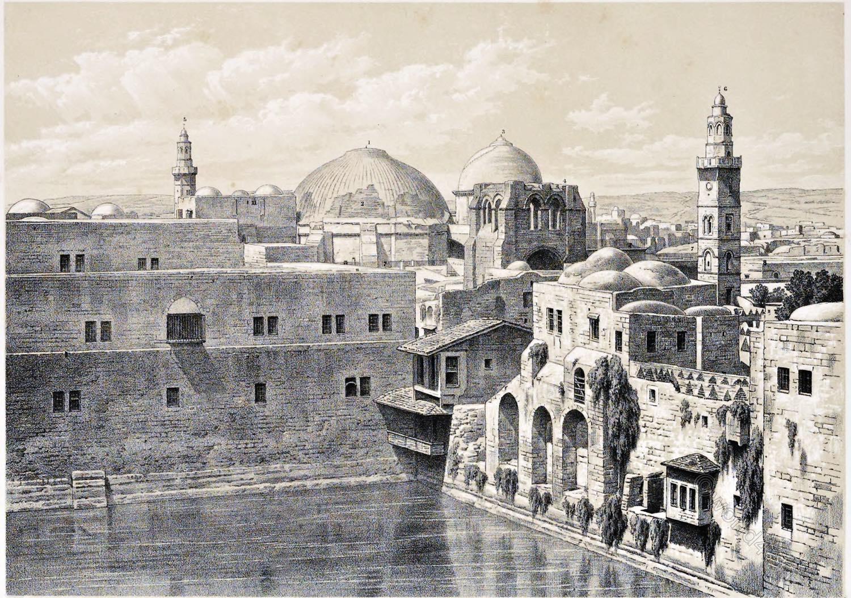 Jerusalem, Pool, Amygdalon, Hezekiah, Holy Land, Ermete, Pierotti,