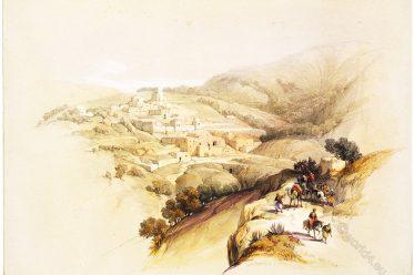Bethany, Roberts, David, Palestine, Israel, Holy Land, Landscape,