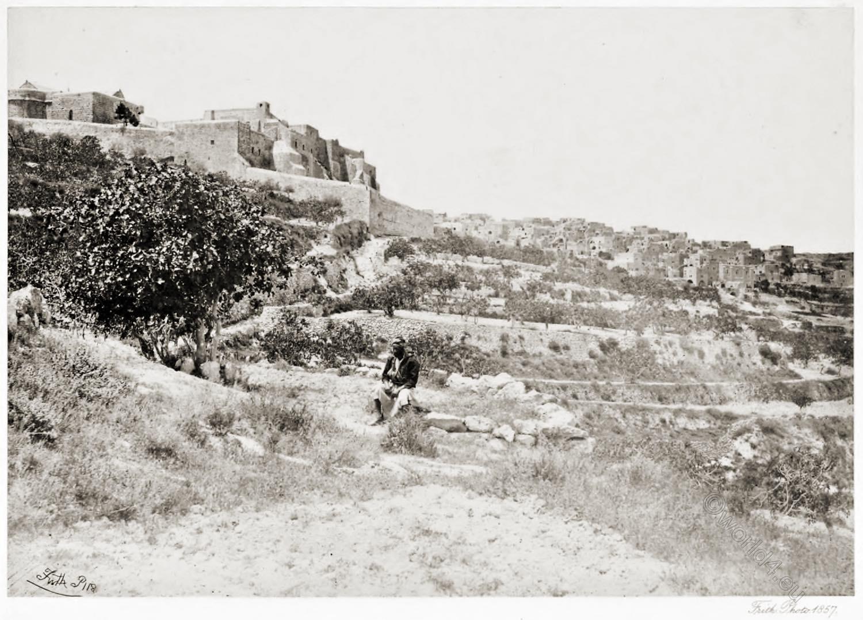 West Bank, Bethlehem, Church, Nativity, Holy Land, Francis Frith,