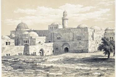 Architecture, Mount Sion, Cenacle, Coenaculum, tomb, David, Jerusalem, Holy Land, Ermete Pierotti,