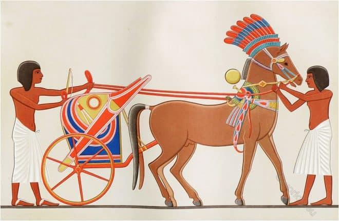 Char, princier, Chariot, Egyptian, Art, Prisse D'Avennes