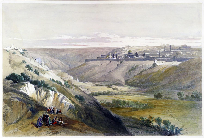 Jerusalem, Church, Purification, Holy Land, David Roberts