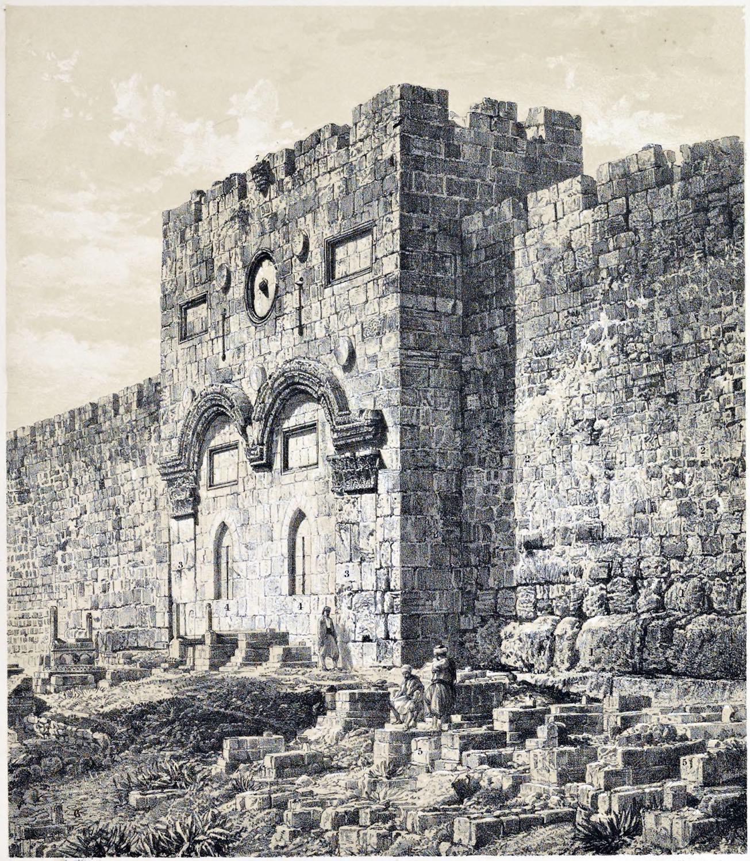 Jerusalem, Golden, Gate,  Holy Land, Ermete, Pierotti,