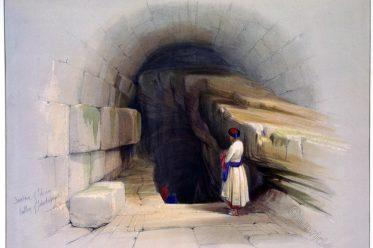 Fountain, Siloam, Israel, Holy Land, Jehoshaphat, Jerusalem, David Roberts,
