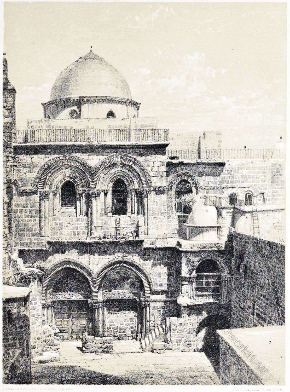 Church, Resurrection, Jerusalem, Holy Land, Ermete Pierotti,
