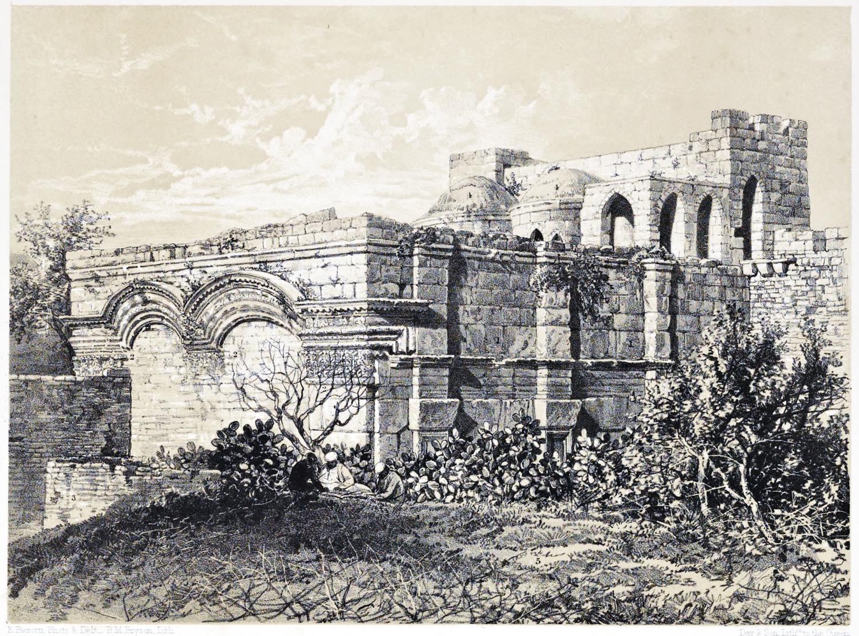 Golden Gate, Western, view, Jerusalem, Holy Land, Ermete Pierotti,