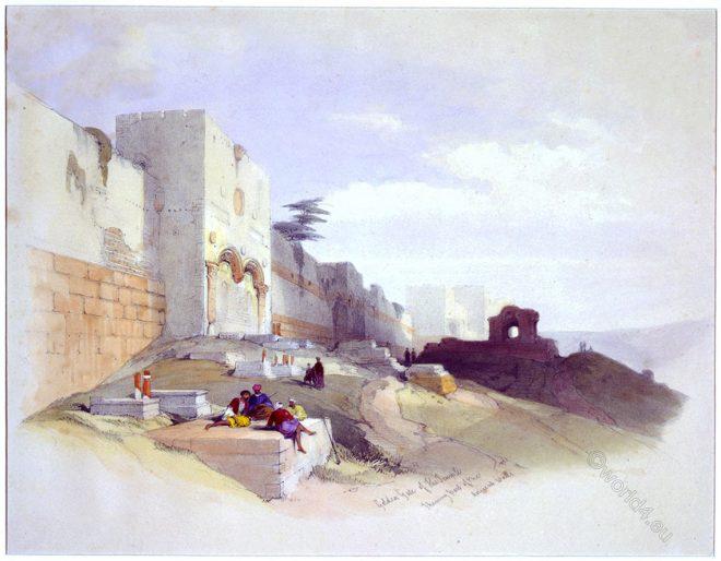 Jerusalem, Golden Gate, Holy Land, David Roberts