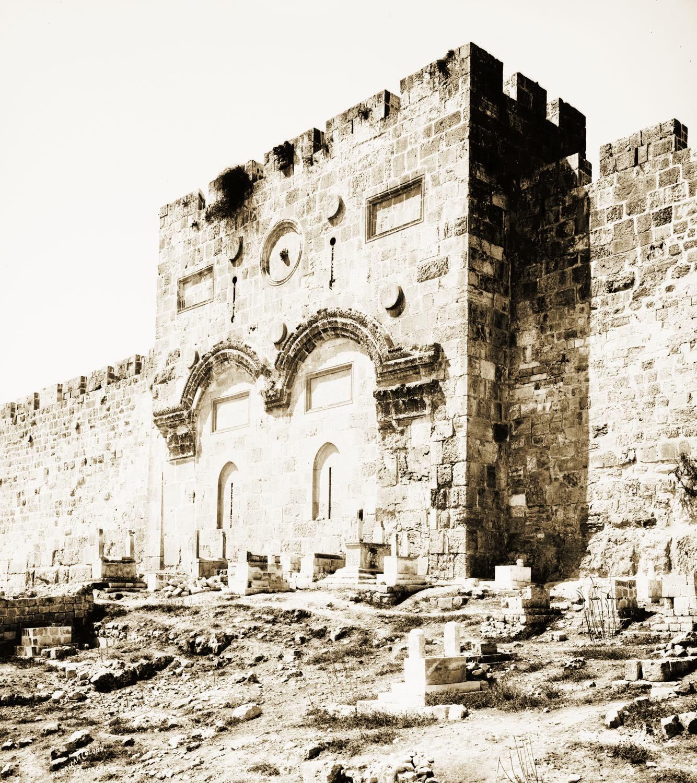 Jerusalem, El-Kouds, Golden Gate, Holy Land, David Roberts