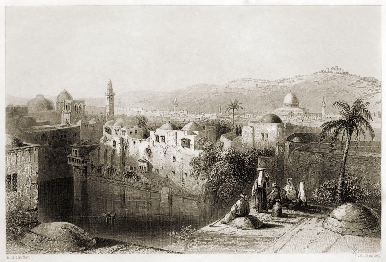 Jerusalem, Pool, Hezekiah, Holy Land, Bartlett,