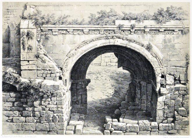 Hospital, S. John, Jerusalem, Holy Land, Ermete Pierotti,