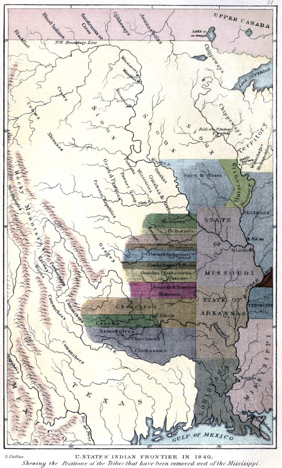 U.States, Indian, Frontier, Natives, tribes,