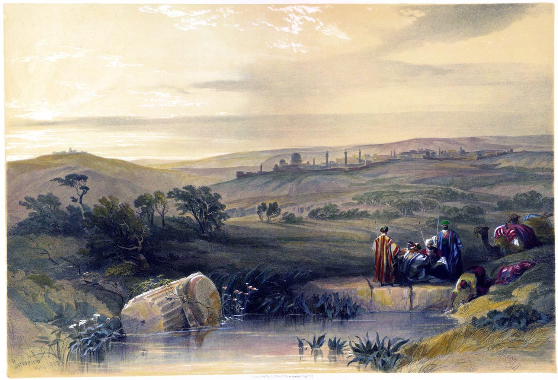 Jerusalem, extensive view, cityscapes, Roberts, David, Palestine, Israel, Holy Land,