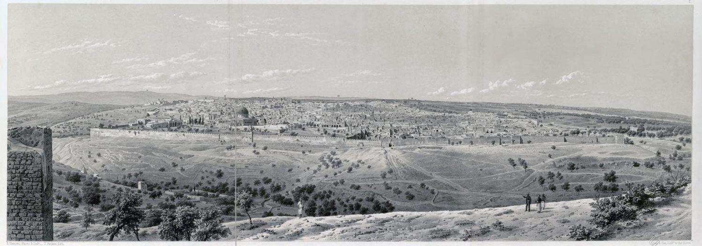 Jerusalem, Panorama, Ermete Pierotti, Israel, Holy Land, Landscape,