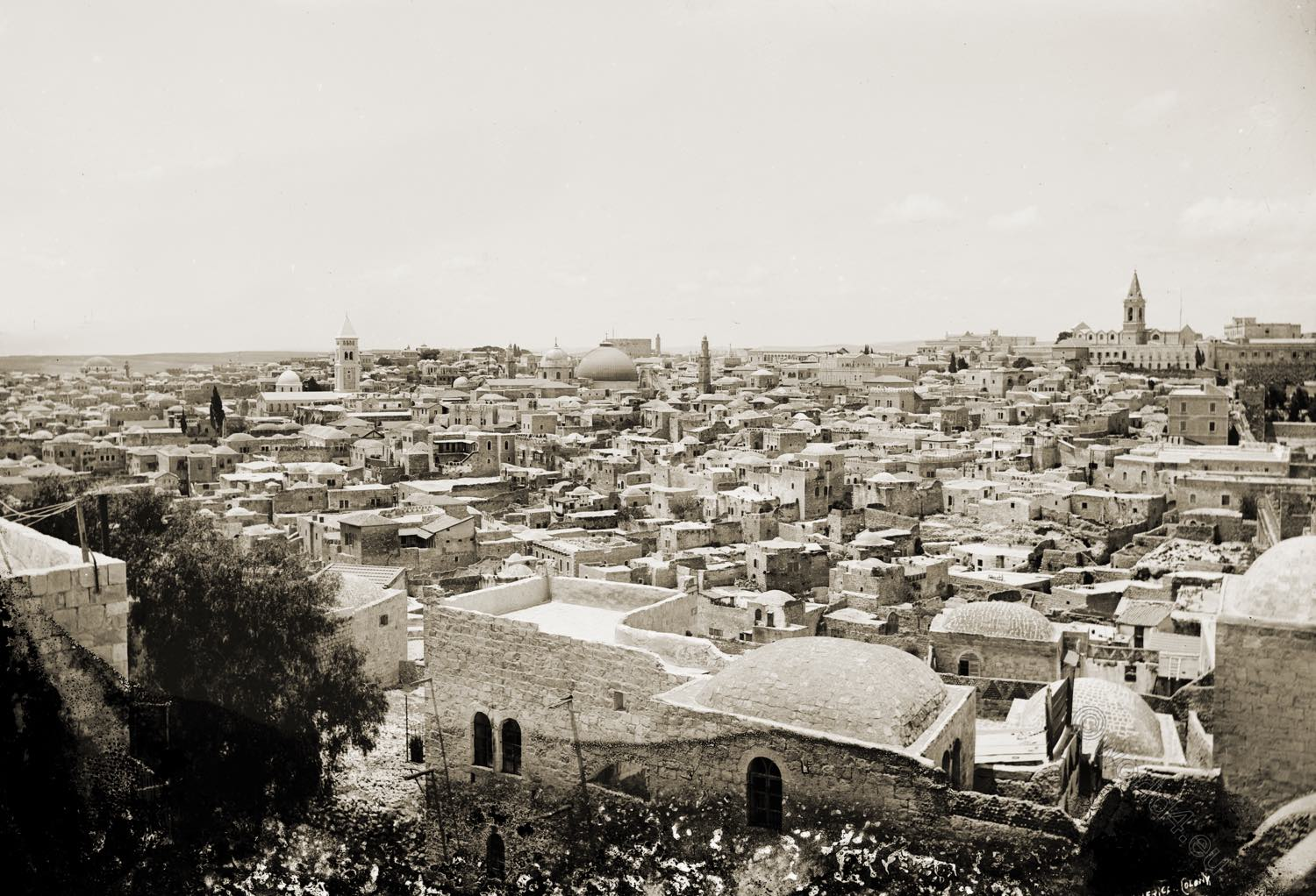 Jerusalem, extensive view, Photograph, Collection, cityscapes, Palestine, Israel, Holy Land,