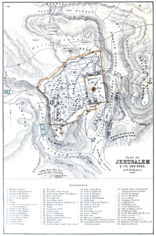 Jerusalem, Plan, environs, Israel, Holy Land, Landscape,