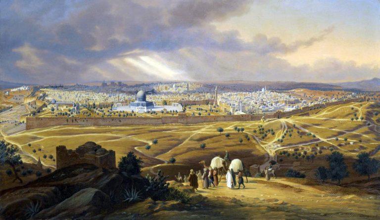 Jerusalem, Mount, Olives, Hubert Sattler, Holy Land,