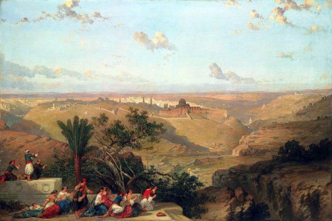 conquests, Jerusalem, cityscapes, Roberts, David, Palestine, Israel, Holy Land,