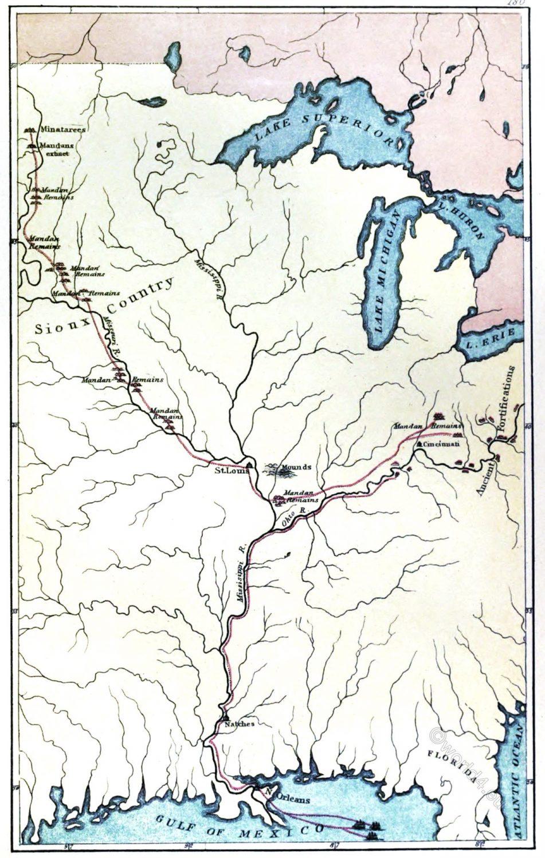 Mandans, George Catlin, Native, Americans, Plains, Indians,