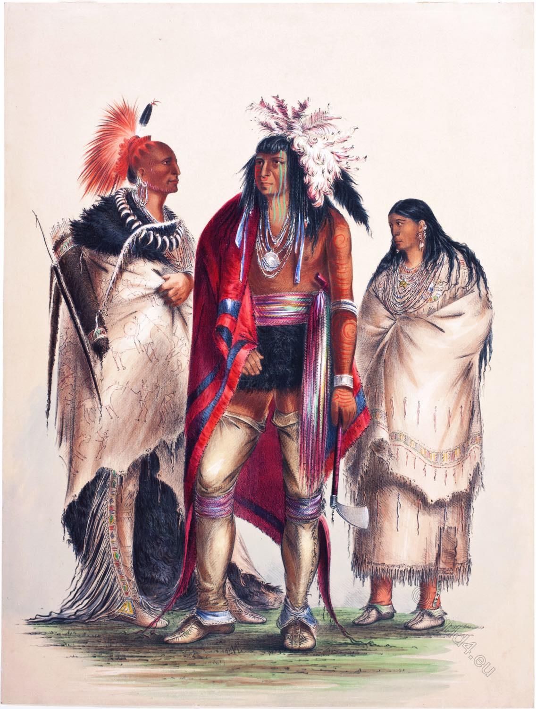 George Catlin, Iroquois, Pawnee, Osage, warrior, Native, Americans, Plains, Indians,