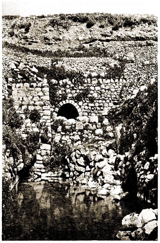 Pool, Siloam, Israel, Holy Land, Jerusalem, Landscape,