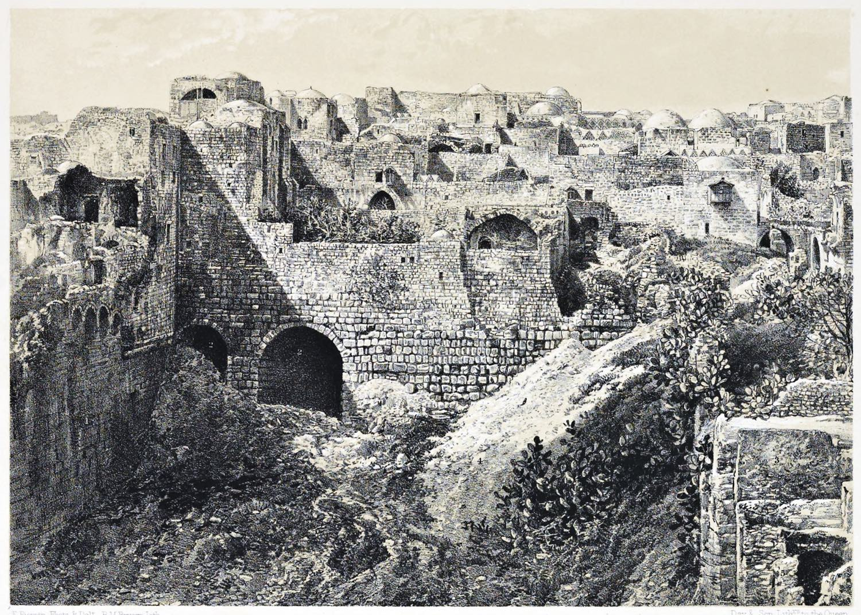 Jerusalem, Pool, Bethesda, Holy Land, Ermete, Pierotti,