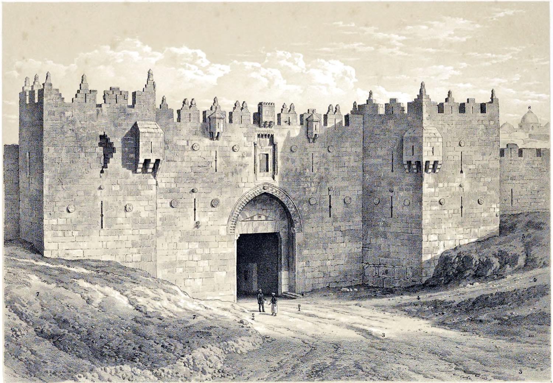 Jerusalem, Damascus Gate, Holy Land, Ermete, Pierotti,