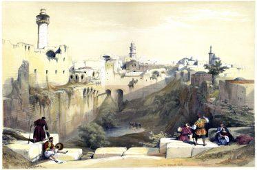 Pool, Bethesda, Roberts, David, Palestine, Israel, Holy Land, Landscape,