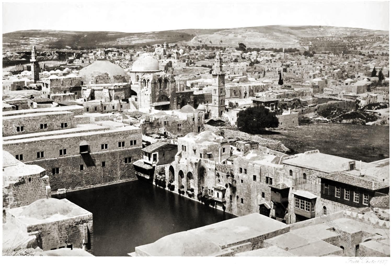Jerusalem, Pool, Hezekiah, Holy, Sepulchre, Holy Land, Francis Frith,