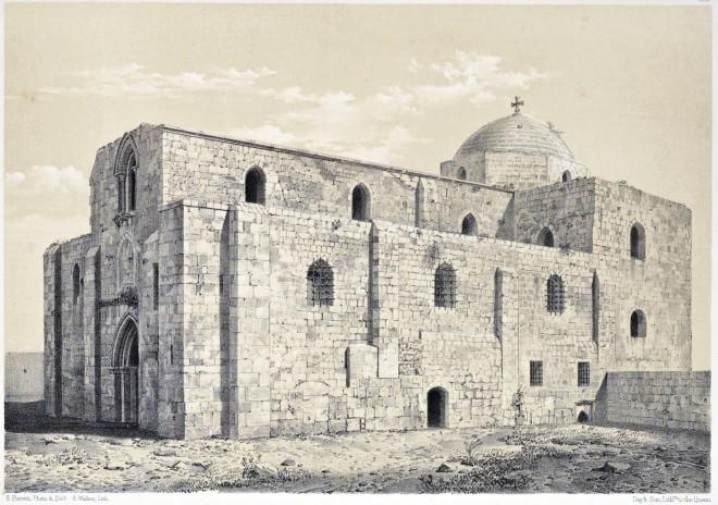 Church, S. Anne, Jerusalem, Holy Land, Ermete Pierotti,