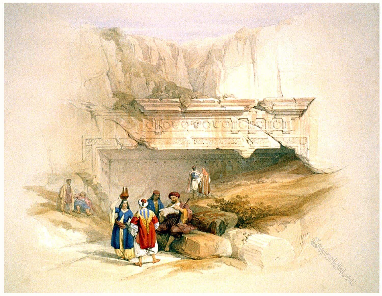 Jerusalem, tombs, Kings, Holy Land, David Roberts,
