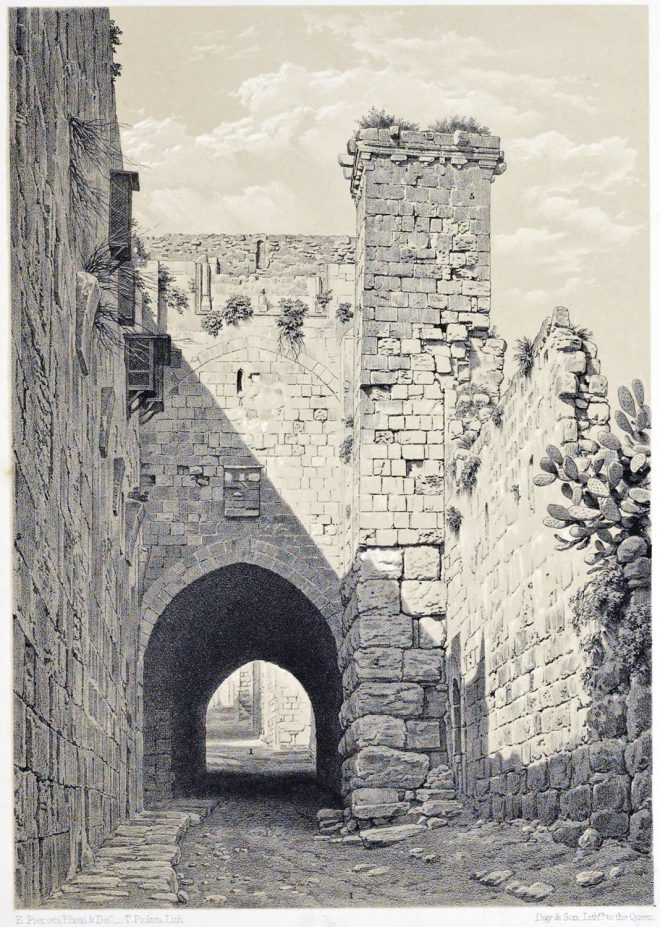 Jerusalem, Tower, Antonia, Via Dolorosa, Holy, Land, Ermete Pierotti,