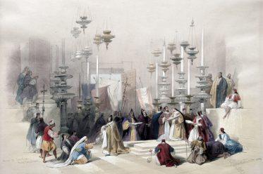 Stone, Unction, Anointing, Holy Sepulchre, Jerusalem, Israel, Holy Land, David Roberts,