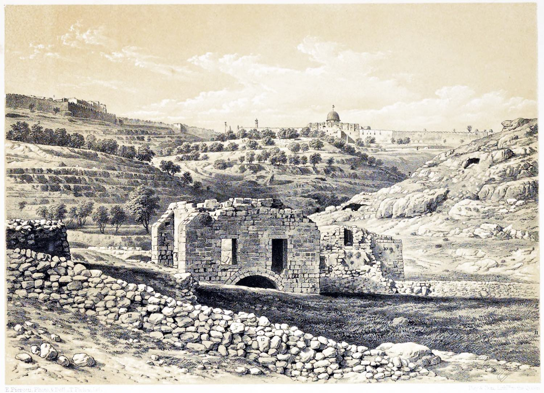 Silwan, Valley, Siloam, Jerusalem, Holy Land, Ermete Pierotti,